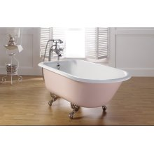 """TRADITIONAL Cast Iron Bath With 3 3/8"""" Faucet Holes in Tub Wall"""