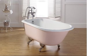 "TRADITIONAL Cast Iron Bath With 3 3/8"" Faucet Holes in Tub Wall Product Image"