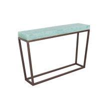 Folded Glass Console Table