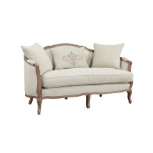 Emerald Home Salerno Settee W/2 Pillows & 1 Kidney Pillow Sand Gray/distressed U3693-01-09