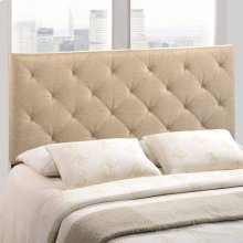 Theodore Queen Upholstered Fabric Headboard in Beige