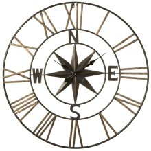 Compass with Star Wall Clock