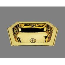 B1216 - Neptune Lavatory - Plain Pattern - Antique Brass