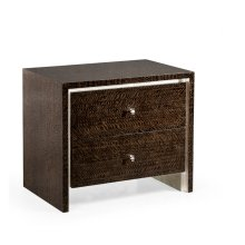 Black Eucalyptus Nightstand with Drawers