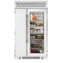 48 Inch Stainless Glass Full Size Refrigerator - - Stainless Glass