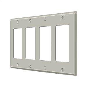 Switch Plate, Quadruple Rocker - Brushed Nickel Product Image
