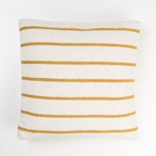 Alba Striped Pillow - Mustard