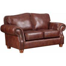 Love Seat in Rustic Rust
