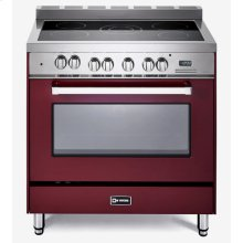 "Burgundy 36"" Electric Single Oven Range"