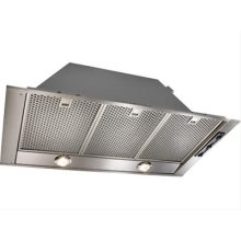 "CLOSEOUT ITEM : $499 : 38"" Stainless Steel Built-In Range Hood with External Blower Options"
