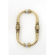 Tuscany Back-to-Back Pull G234-6 - Unlacquered Brass