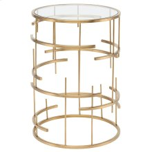 Tiffany Side Table  Gold