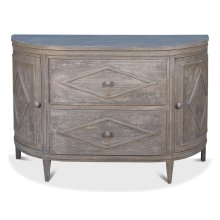Demilune Commode, Light Gray Wash