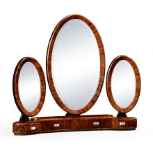 Art Deco Style Triple Dressing Mirror with Stainless Steel
