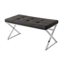 Black/silver Leather Bench, Xlegs, Kd