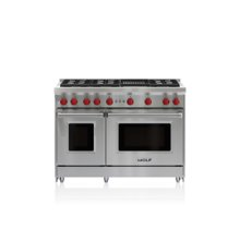"48"" Gas Range - 6 Burners and Infrared Charbroiler"