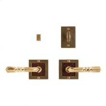 "Designer Privacy Set - 3"" x 3"" Silicon Bronze Brushed with Basic"