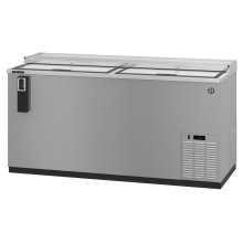 HBC-65-S, Refrigerator, Two Section, Stainless Steel Back Bar Bottle Cooler, Slide Top Doors
