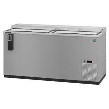 HBC-65-S, Refrigerator, Two Section, Stainless Steel Back Bar Bottle Cooler, Slide Top Doors