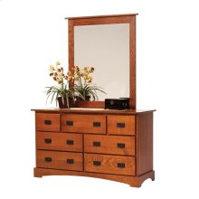 "Old English Mission 72"" Dresser- Mirror"
