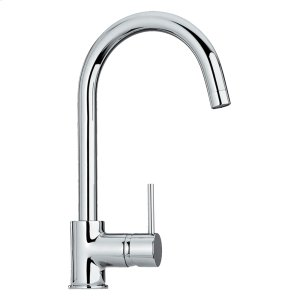 Luxe single-hole, single-lever faucet with a gooseneck swivel spout. Product Image