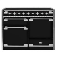 AGA Elise 48 Induction Gloss Black with Chrome trim