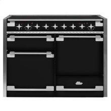 AGA Elise 48 Induction Gloss Black with Chrome trim