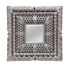 Antique Silver Large Frame Mirror by Ultimate Accents