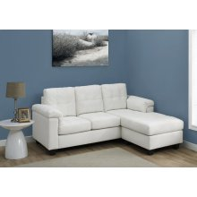 SOFA LOUNGER - WHITE BONDED LEATHER