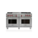 """60"""" Dual Fuel Range - 4 Burners, Infrared Charbroiler and French Top Product Image"""