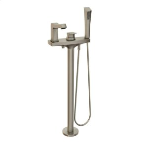Freestanding tub faucet with hand shower - Brushed nickel Product Image