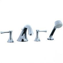 Brookhaven - 4pc Roman Tub Filler Trim - Polished Chrome