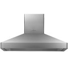 """Heritage 48"""" Chimney Island Hood, Silver Stainless Steel Product Image"""