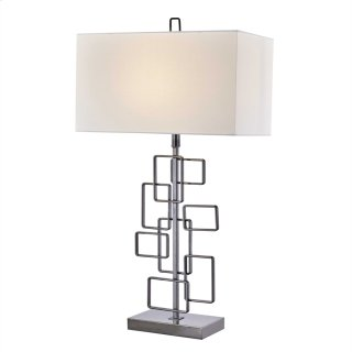 """Metal 33"""" Abstract Table Lamp, Black"""