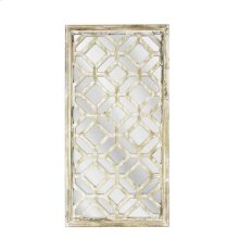 Antique Wood Latticed Mirror,wb