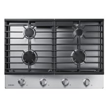 "30"" Gas Cooktop in Stainless Steel"