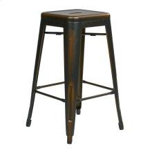 """Bristow 26"""" Antique Metal Barstools, Antique Copper, 2-pack"""