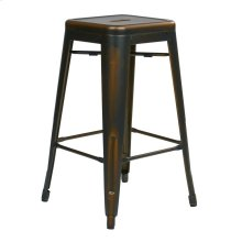 "Bristow 26"" Antique Metal Barstools, Antique Copper, 2-pack"