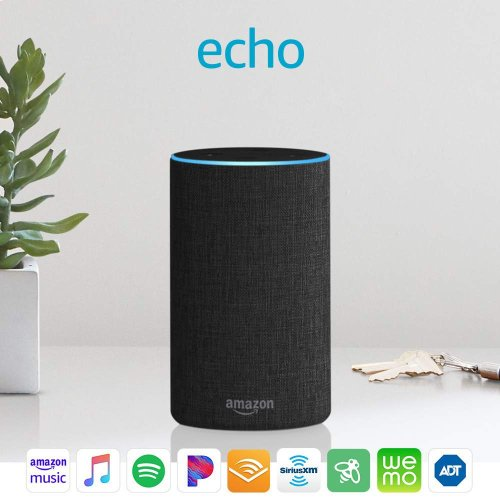 Echo (2nd Generation) - Smart speaker with Alexa - Charcoal Fabric