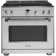 """Monogram 36"""" Dual-Fuel Professional Range with 4 Burners and Grill (Natural Gas) Product Image"""