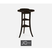 Trefoil Side Table in Dark Ale