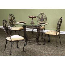 Glasstop table and 4 chairs