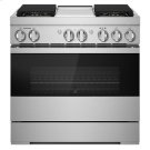 "NOIR 36"" Dual-Fuel Professional Range with Chrome-Infused Griddle Product Image"