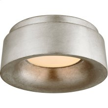 Visual Comfort BBL4090BSL Barbara Barry Halo LED 6 inch Burnished Silver Leaf Flush Mount Ceiling Light, Petite