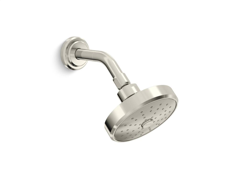 Air-Induction Showerhead with Arm - Nickel Silver