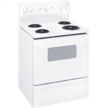 "GE® 30"" Free-Standing Electric Range (This is a Stock Photo, actual unit (s) appearance may contain cosmetic blemishes. Please call store if you would like actual pictures). This unit carries our 6 month warranty, MANUFACTURER WARRANTY and REBATE NOT VALID with this item. ISI 34332"