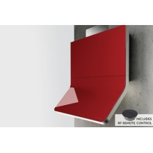 "36"" Horizon Designer Wall Hood with Red Glass"