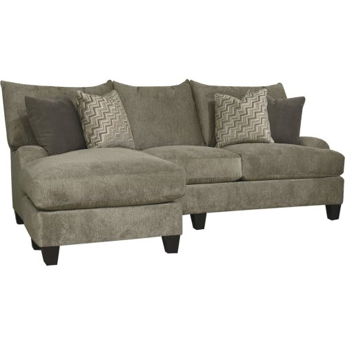 Del Mar Catalina Sofa with Floating Ottoman Chaise 6N00-56