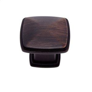 Old World Bronze 32 mm Square Knob Product Image