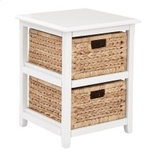 Seabrook Two-tier Storage Unit With White Finish and Natural Baskets